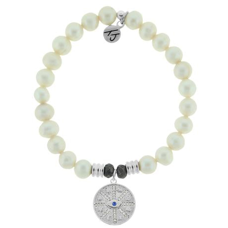 T. Jazelle White Pearl Protection Bracelet