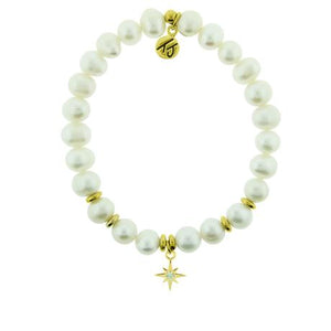 T. Jazelle White Pearl Gold Your Year Bracelet
