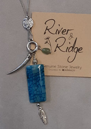 River & Ridge Blue stone necklace