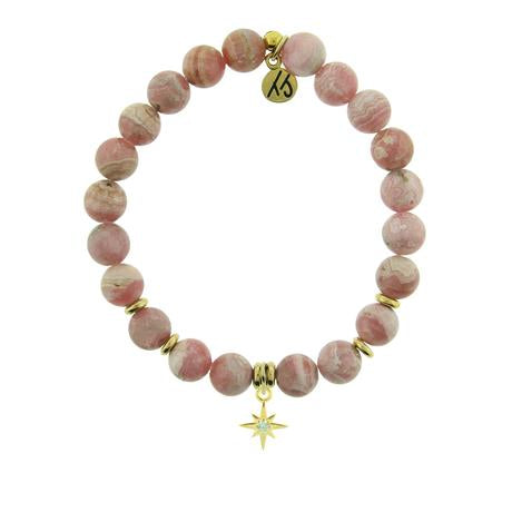 T. Jazelle Rhodochrosite Gold Your Year Bracelet