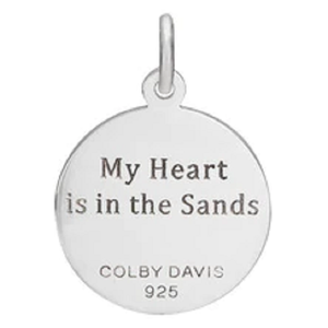 Back of Colby Davis Sand Dollar Pendant - Small