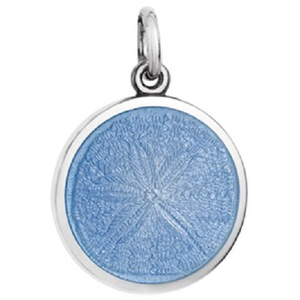 Front of Colby Davis Sand Dollar Pendant - Small, French Blue
