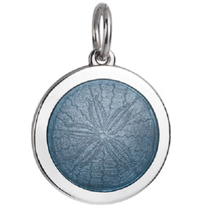 Front of Colby Davis Sand Dollar Pendant - Medium, Gray