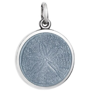 Front of Colby Davis Sand Dollar Pendant - Small, Gray