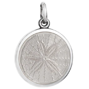 Front of Colby Davis Sand Dollar Pendant - Small, White