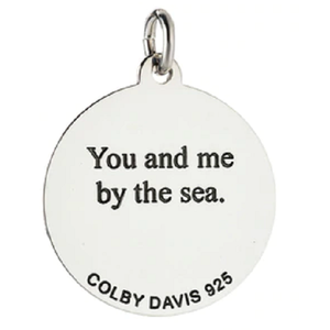 Back of Colby Davis Scallop Shell Pendant - Medium