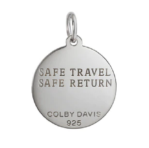 Back of Colby Davis Saint Christopher Pendant - Medium