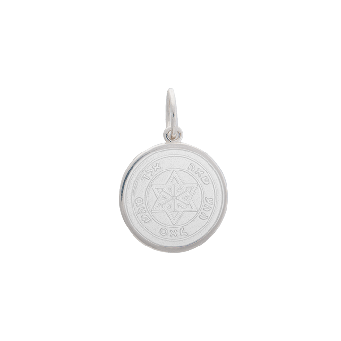Lola Star of David Pendant-White, Small