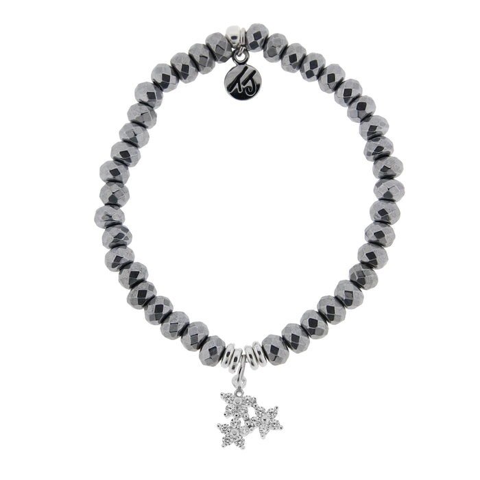 T. Jazelle Hematite Three Wishes Bracelet