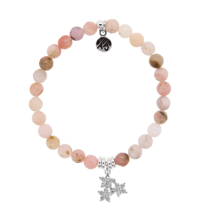 T. Jazelle Pink Opal Three Wishes Bracelet