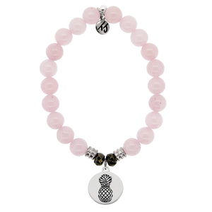 T. Jazelle Rose Quartz Pineapple Bracelet