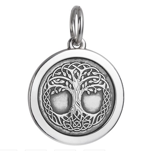 Front of Colby Davis Tree of Life Celtic Knot Pendant - Medium, Oxidized Silver