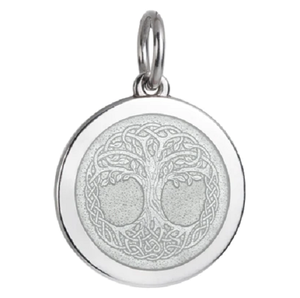 Front of Colby Davis Tree of Life Celtic Knot Pendant - Medium, White