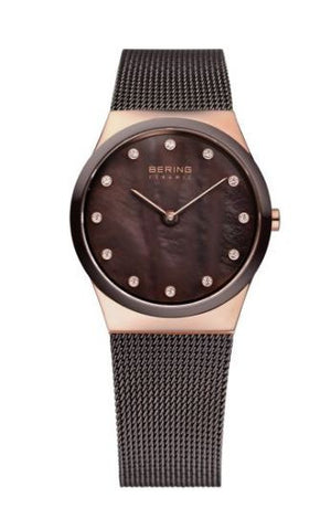 Women's Brown Milanese Mesh Watch
