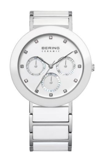 Women's 38mm White Ceramic Bering Watch