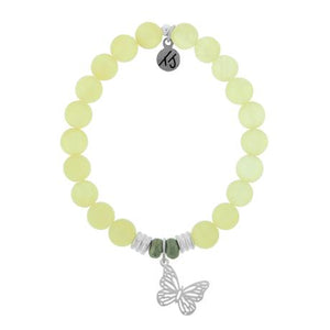 T. Jazelle Yellow Calcite Butterfly Bracelet