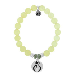 T. Jazelle Yellow Calcite Parkinsons Awareness Bracelet