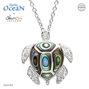 OCEAN ABALONE TURTLE NECKLACE