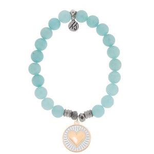 T. Jazelle Apatite Heart of Gold Bracelet