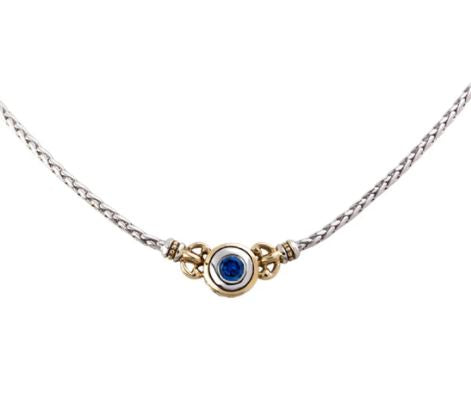 JOHN MEDEIROS BEIJOS COLLECTION SINGLE SAPPHIRE STONE NECKLACE