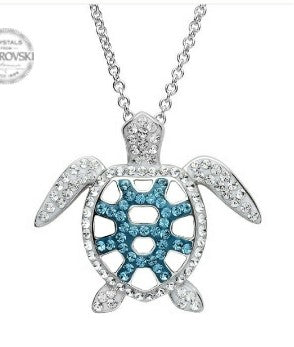 OCEAN BLUE SEA TURTLE NECKLACE