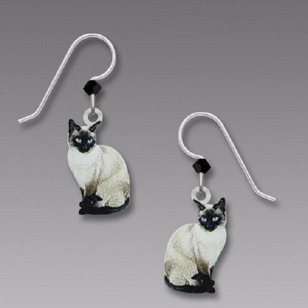 Sienna Sky Siamese Cat Earrings