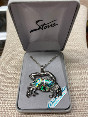 Wild Pearle Abalone Crab Necklace
