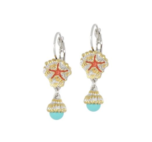 JOHN MEDEIROS Caraíba Collection Shell French Wire Earrings
