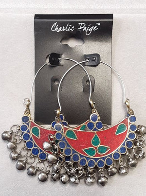Charlie Paige Boho Earrings Red