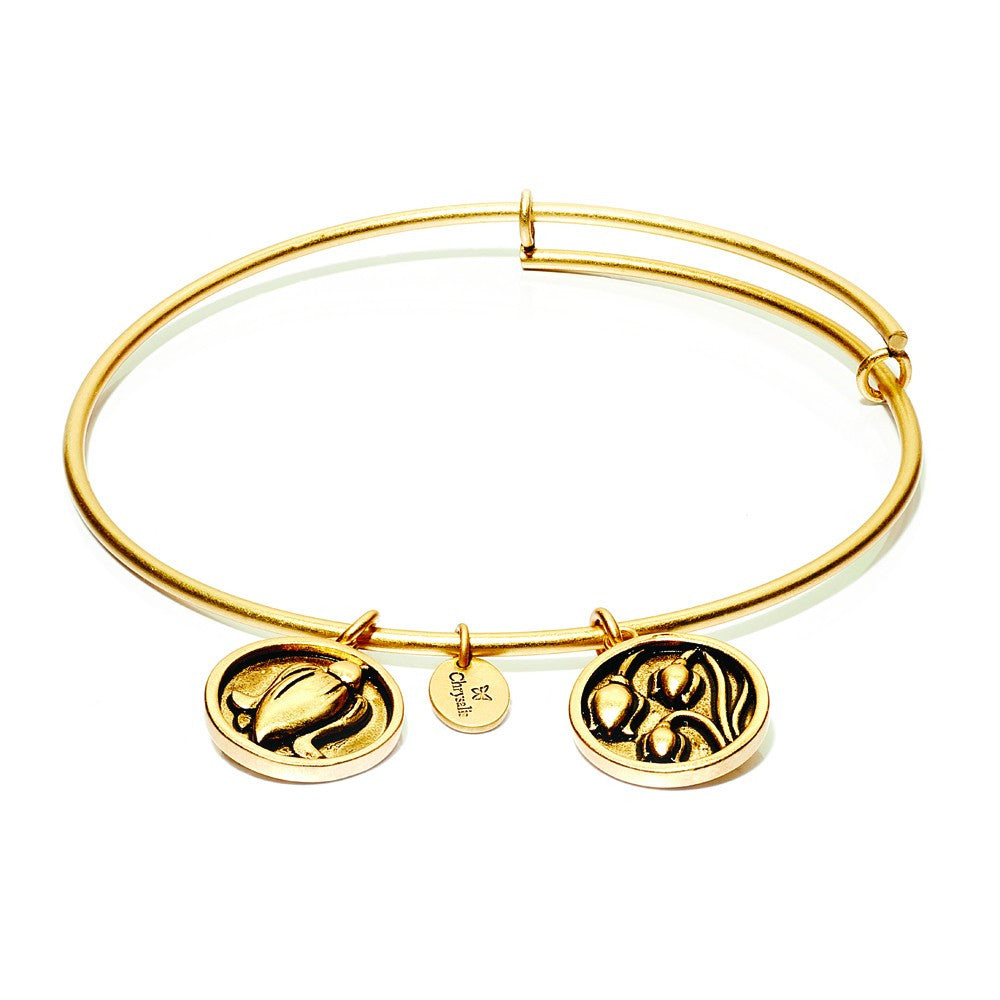 Lily Of The Valley Expandable Bangle - Gold
