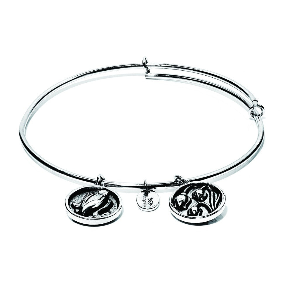 Lily Of The Valley Expandable Bangle - Silver