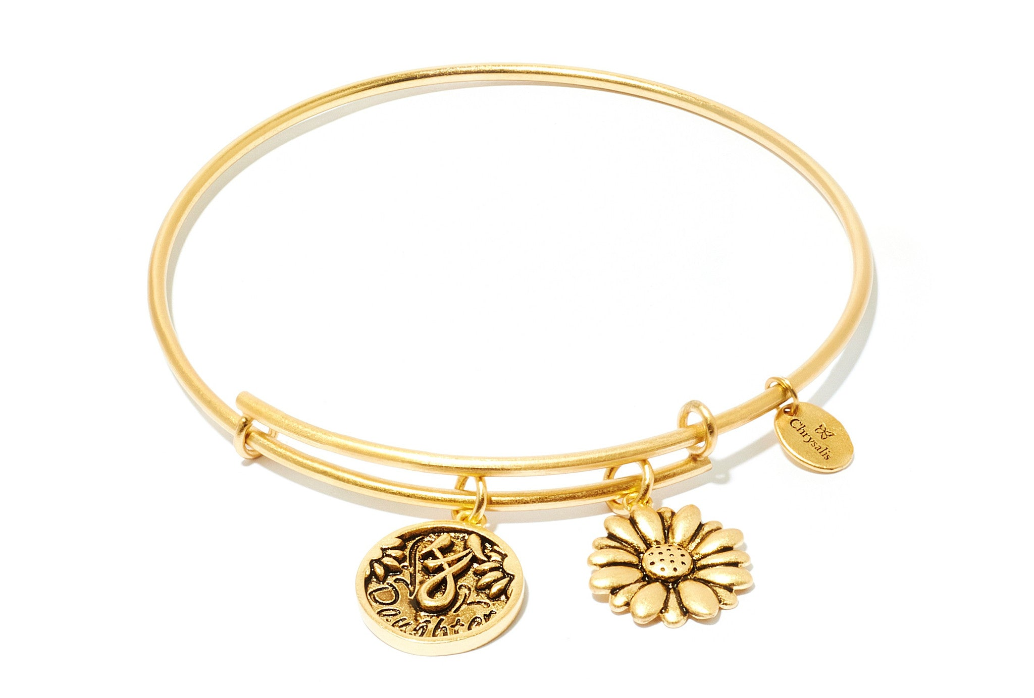 Daughter Expandable Bangle - Gold