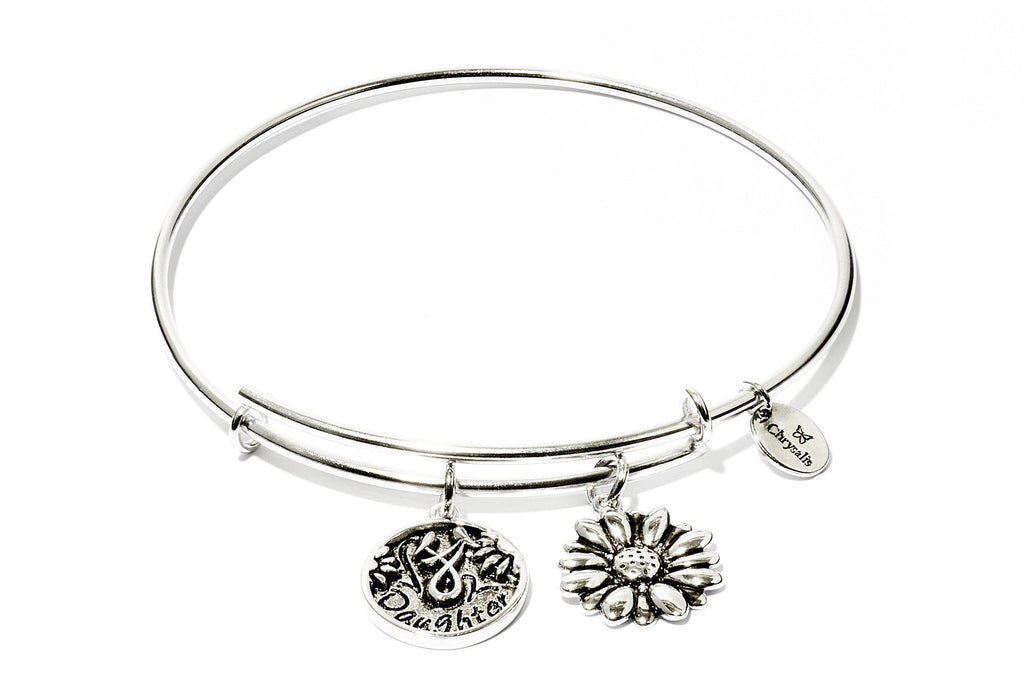 Daughter Expandable Bangle - Silver