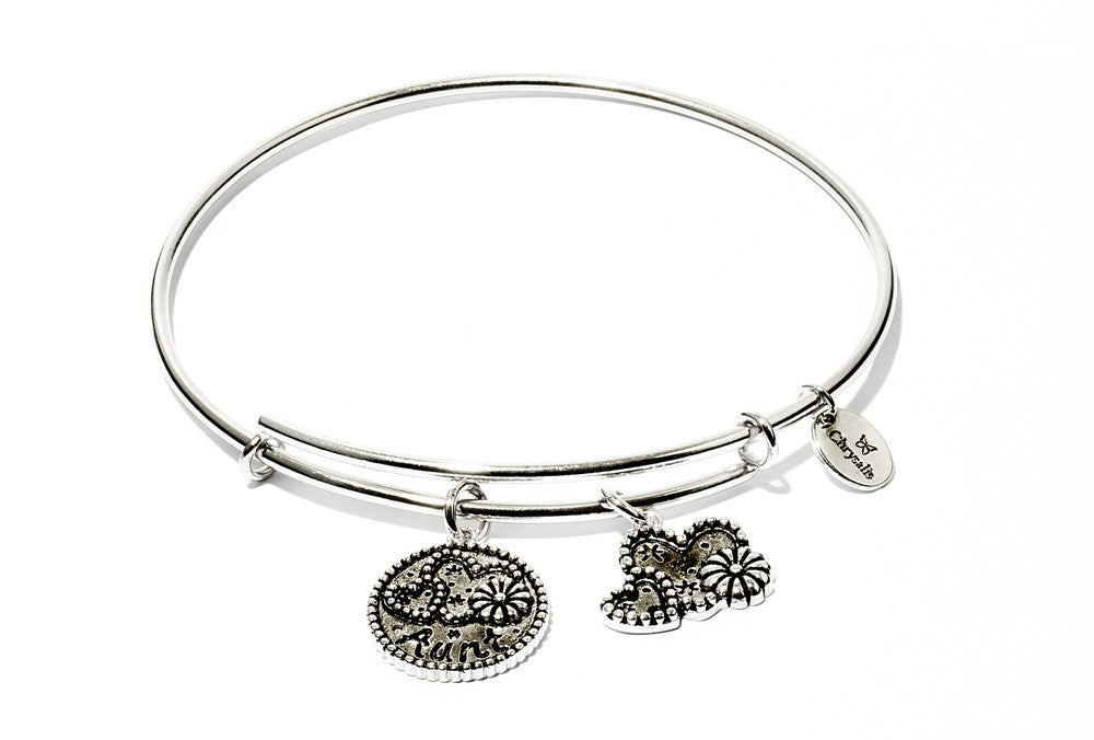 Aunt Expandable Bangle - Silver