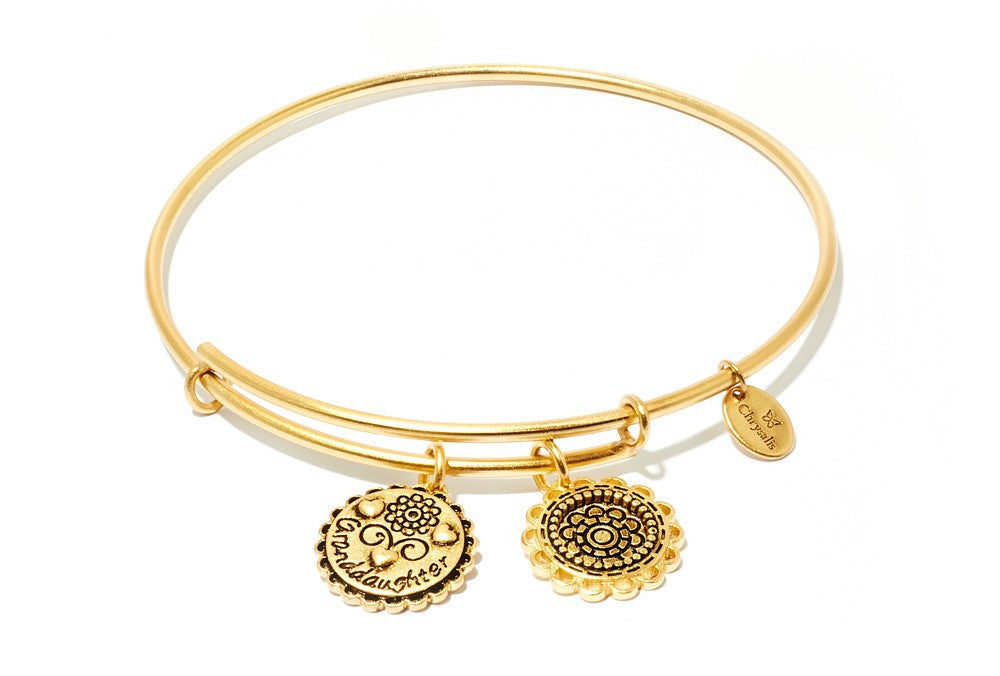 Granddaughter Expandable Bangle - Gold