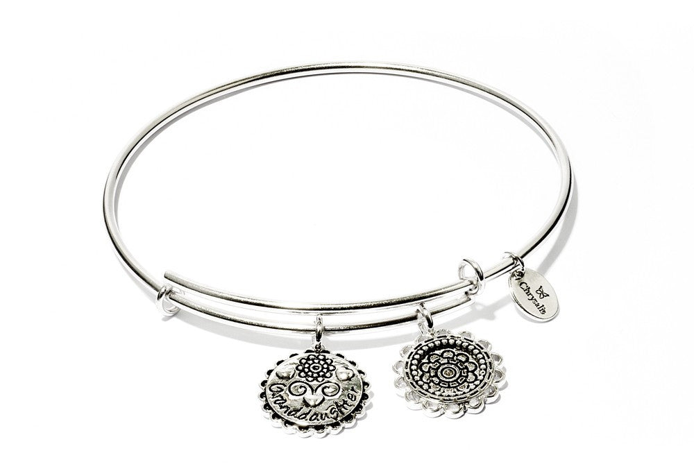 Granddaughter Expandable Bangle - Silver