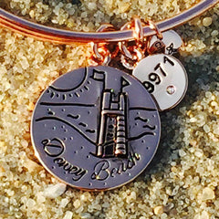 Dewey Beach Delaware Sandcastle Bangle, Rose Gold, Chrysalis