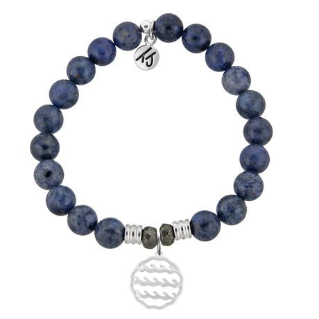 T. Jazelle Dumortierite Waves of Life Bracelet