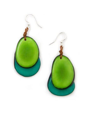 Tagua Fiesta Earrings Green