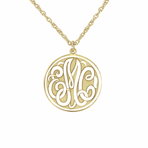 Classic Recessed Monogram Pendant 20mm
