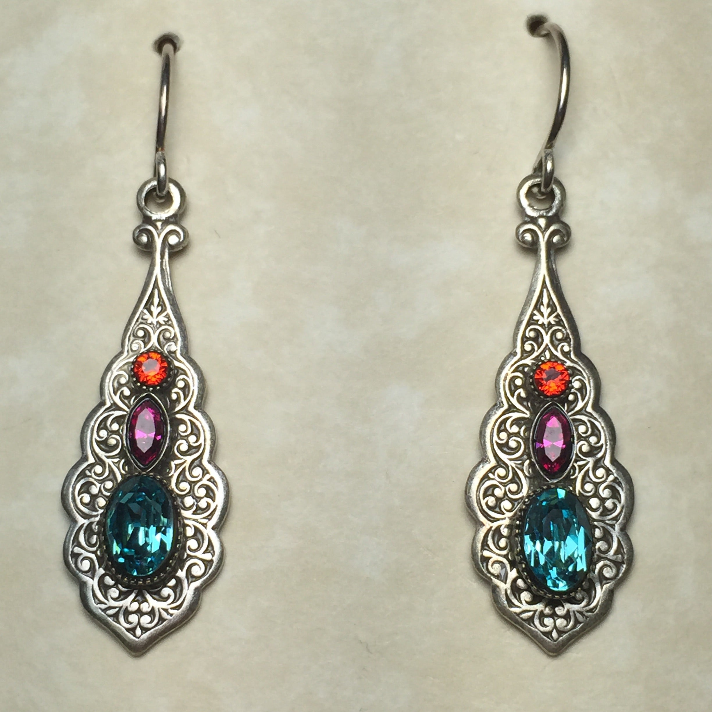 Firefly Crystal Filigree Teardrops