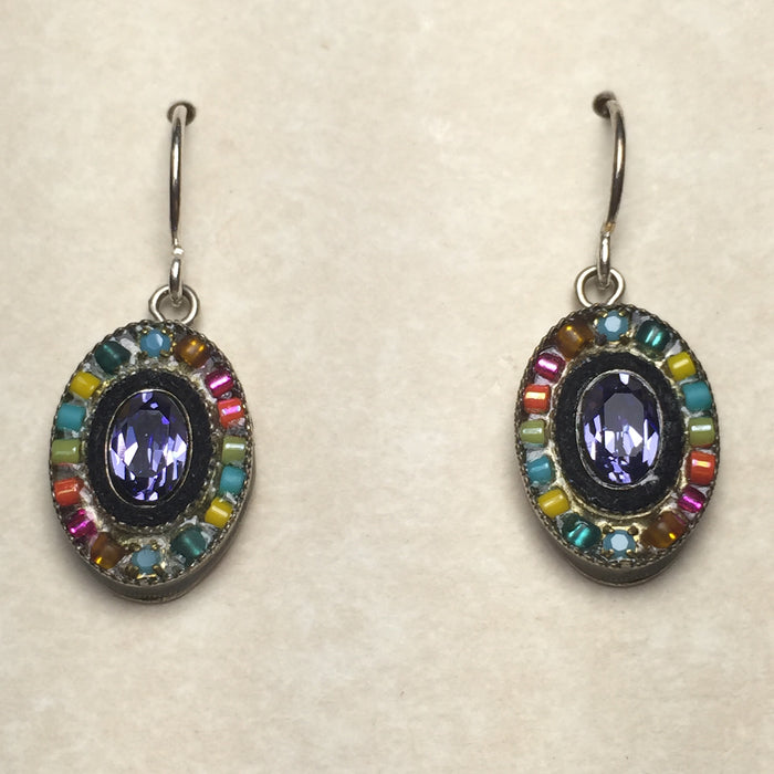 Firefly Oval Beaded Crystal Drops
