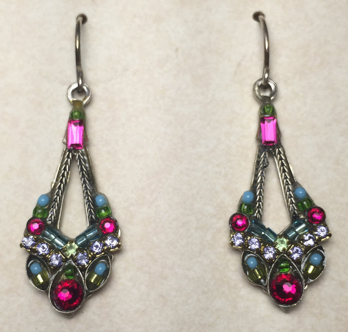 Firefly Beaded Crystal Open Teardrops