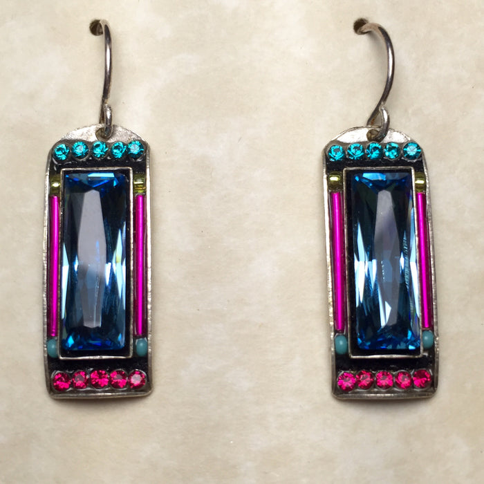 Firefly Rectangle Drop Earrings