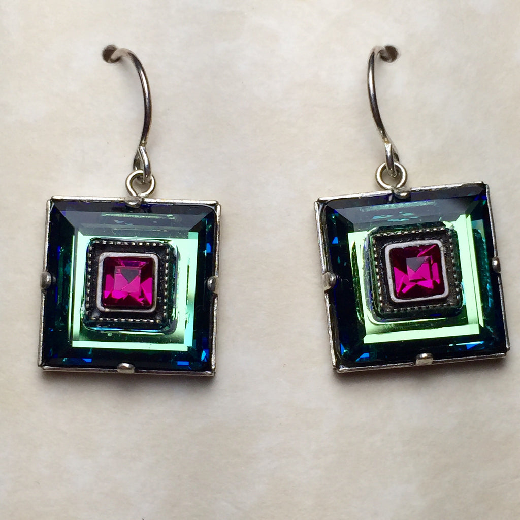 Firefly Square Drop Earrings