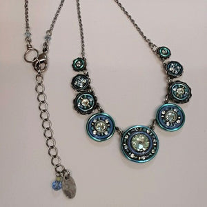 Firefly Turquoise Circle Mosaic Necklace