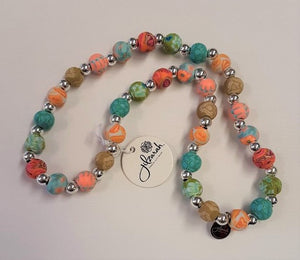 Jilzarah Summer Cottage Beaded Necklace