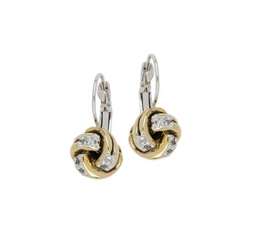 JOHN MEDEIROS Infinity Knot Pave French Wire Earrings