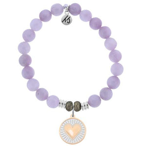 T. Jazelle Kunzite Heart of Gold Bracelet