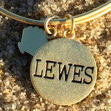 Chrysalis Lewes LIghthouse gold bangle